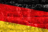 Bandeira da alemanha pintado na parede do grunge — Foto Stock