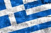 Bandeira da grécia, pintada na parede do grunge — Foto Stock