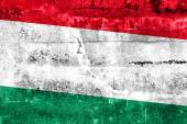 Hungary Flag painted on grunge wall — Stock Photo
