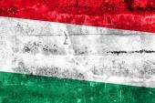 флаг венгрии, роспись на стене гранж — Стоковое фото
