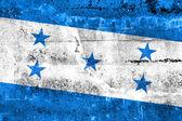 Bandeira de honduras, pintada na parede do grunge — Foto Stock