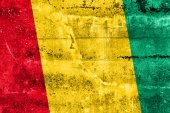 Guinea Flag painted on grunge wall — Stock Photo