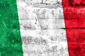 Bandeira da itália pintado na parede do grunge — Foto Stock