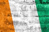 Bandeira da costa do marfim pintado na parede do grunge — Foto Stock