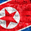 North Korea Flag painted on grunge wall — Stock Photo #52964029