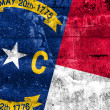 North Carolina State Flag painted on grunge wall — Stock Photo #52964033