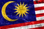 Malaysia Flag painted on grunge wall — ストック写真
