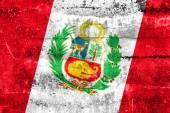 Peru Flag painted on grunge wall — Fotografia Stock