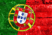 Portugal Flag painted on grunge wall — Stok fotoğraf