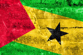 Sao Tome and Principe Flag painted on grunge wall — Foto Stock