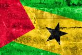 Sao Tome and Principe Flag painted on grunge wall — Stock Photo