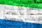 Sierra Leone Flag painted on grunge wall — Stock Photo