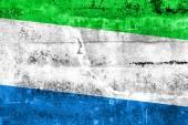 флаг сьерра-леоне, роспись на стене гранж — Стоковое фото
