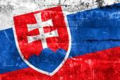 Grunge duvara boyalı slovakya bayrağı — Stok fotoğraf