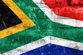 グランジの壁に描かれた南アフリカ共和国の旗 — ストック写真