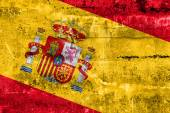 Spain Flag painted on grunge wall — Stock Photo