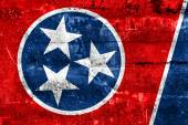 Tennessee State Flag painted on grunge wall — Stok fotoğraf
