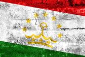 Tajikistan Flag painted on grunge wall — Zdjęcie stockowe