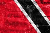 Malowany na ścianie nieczysty flaga trynidadu i tobago — Zdjęcie stockowe
