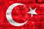 Turkey Flag painted on grunge wall — Zdjęcie stockowe