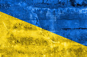 Ukraine Flag painted on grunge wall — Foto Stock