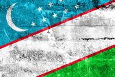 Flaga uzbekistanu namalowane na ścianie grunge — Zdjęcie stockowe