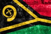 Bandeira de vanuatu, pintada na parede do grunge — Fotografia Stock