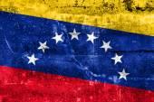 Venezuela Flag painted on grunge wall — Zdjęcie stockowe