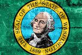 Washington State Flag painted on grunge wall — Zdjęcie stockowe