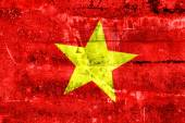 Vietnam Flag painted on grunge wall — Zdjęcie stockowe