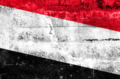 Yemen Flag painted on grunge wall — Zdjęcie stockowe