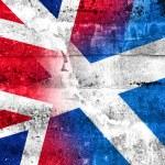 Scotland and United Kingdom Flag painted on grunge wall — Stock Photo #53591299