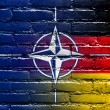 Nato and Germany Flag painted on brick wall — Stock Photo #53771271