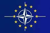 Nato and EU Flag — Stock fotografie