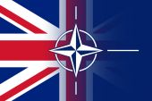 Nato and UK Flag — Stock fotografie