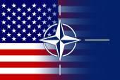 Nato and USA Flag — Stock Photo
