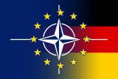Nato, EU and Germany Flag — Photo