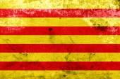 Grunge Catalonia Flag — Stock Photo