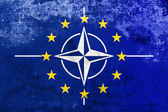 Grunge Nato and EU Flag — Photo