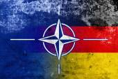 Grunge Nato and Germany Flag — Stock fotografie