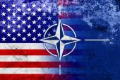 Grunge Nato and USA Flag — Photo