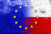 Grunge Poland and European Union Flag — Stock fotografie