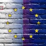 Malta and European Union Flag painted on brick wall — Stock Photo #53998641