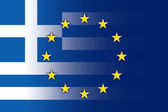 Greece and European Union Flag — Stock Photo