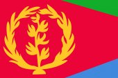 Eritrea Flag. Close up. — Stock Photo