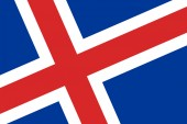 Iceland Flag. Close up. — 图库照片