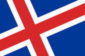 Iceland Flag. Close up. — Stok fotoğraf