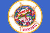 Minnesota State Flag. Close up. — Stock Photo