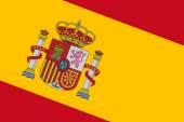 Flaga hiszpanii. z bliska. — Zdjęcie stockowe