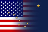 USA and Alaska State Flag — Foto de Stock